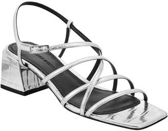 Sigerson Morrison Ellia Crisscross Metallic Leather Strappy Sandals