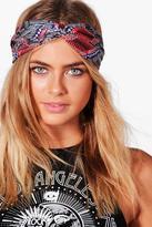 boohoo Isabelle Multi Colour Aztec Print Turban Headband