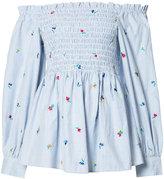 Suno off shoulder blouse - women - Cotton - 10