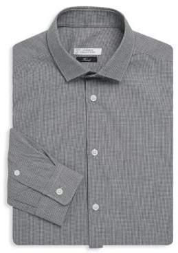 Versace Houndstooth Cotton Dress Shirt