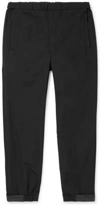 Prada Black Tech-Nylon Drawstring Trousers