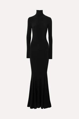 Norma Kamali Stretch-jersey Turtleneck Gown - Black