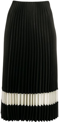 Theory Two-Tone Pleated Skirt