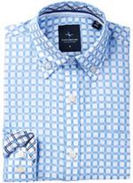 Tailorbyrd French Blue Check Dress Shirt (Big Boys)