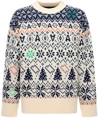 Ader Error Jacquard Wool Knit Sweater