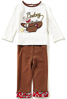 Starting Out Baby Boys 12-24 Months Cowboy-Appliqued Top and Pull-On Pants Set