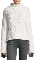 Rag & Bone Ida Two-Tone Cashmere Sweater, Ivory