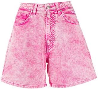 MSGM Washed Effect Shorts