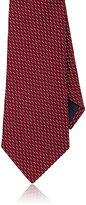 Ermenegildo Zegna Men's Neat Silk Necktie-RED