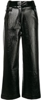 Three floor high waisted flared trousers