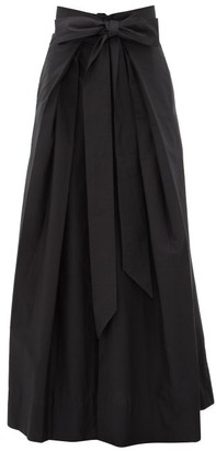 Kalita Avendon Tie-waist Cotton Maxi Skirt - Black