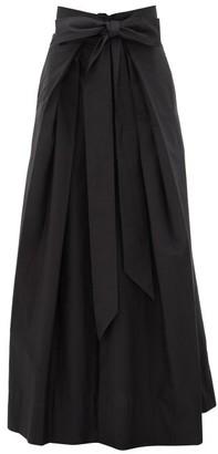 Kalita Avendon Tie-waist Cotton Maxi Skirt - Womens - Black