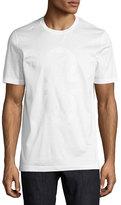 Salvatore Ferragamo Thermal Logo Cotton T-Shirt, White
