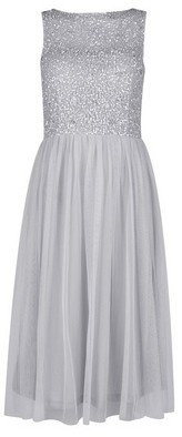 Dorothy Perkins Womens **Showcase Dove Grey 'Cordelia' Midi Dress, Grey