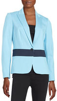 Anne Klein Paneled One-Button Blazer