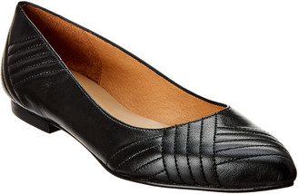 French Sole Amelia Leather Flat