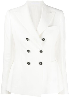 Tagliatore Janise double-breasted linen blazer