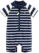 Carter's 1-Pc. Striped Rash Guard Swimsuit, Baby Boys