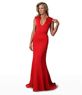 JS Collections Red Carpet V-Neck Gown