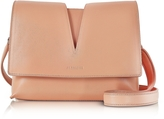 Jil Sander View Open Tan Soft Leather Small Shoulder Bag