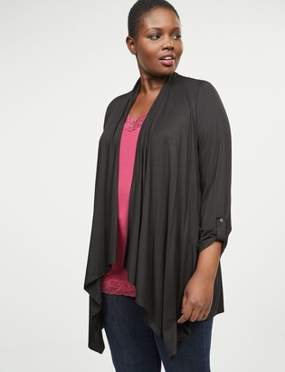Lane Bryant Roll-Sleeve Draped Overpiece