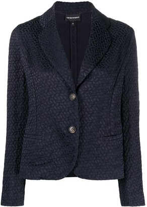 Emporio Armani Geometric-Embroidered Blazer