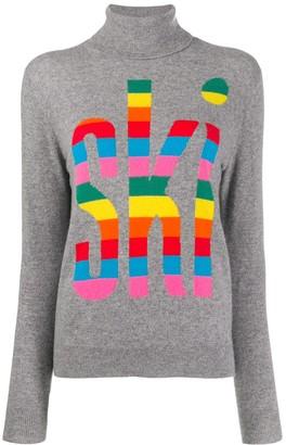 Parker Chinti & roll-neck intarsia knit jumper
