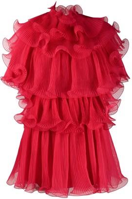 Alberta Ferretti Ruffled Mini Dress