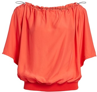 artica-arbox Off-The-Shoulder Drawcord Top
