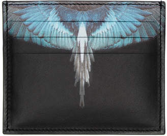 Marcelo Burlon County of Milan Black and Blue Wings Card Holder
