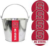 NCAA North Carolina State Wolfpack Metal Drink Bucket & Paper Coaster 5-piece Set