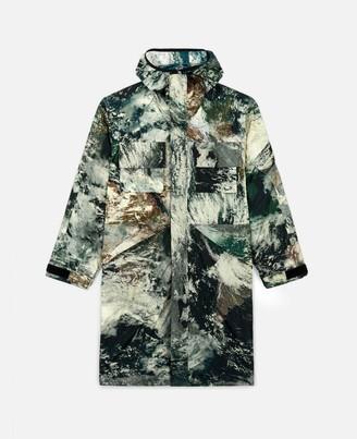 Stella McCartney earth satellite print murphy trench coat