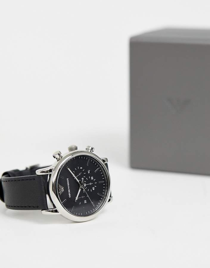Emporio Armani AR1828 chronograph watch in leather