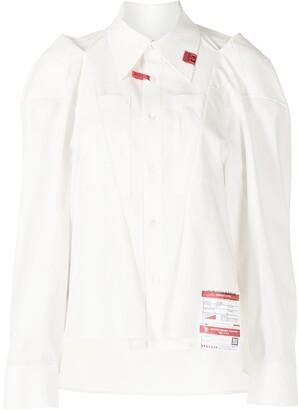 Maison Mihara Yasuhiro Logo-Patch Tailored Cotton Shirt