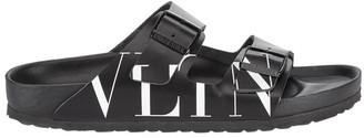 Valentino Garavani x Birkenstock Double Strap Logo Sandals