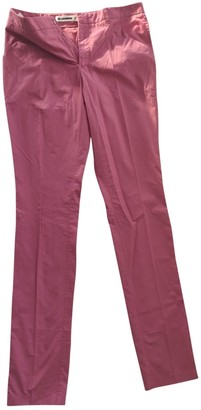 Jil Sander Purple Cotton Trousers