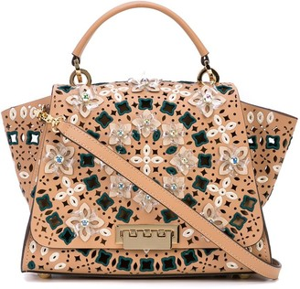 ZAC Zac Posen Floral Applique Bag