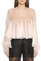 Philosophy Di Lorenzo Serafini Long Sleeve Ruffle Blouse Powder