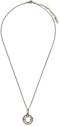 Saint Laurent Silver Lifebuoy Necklace