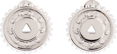 Eddie Borgo Silver Mechanical Stud Earrings