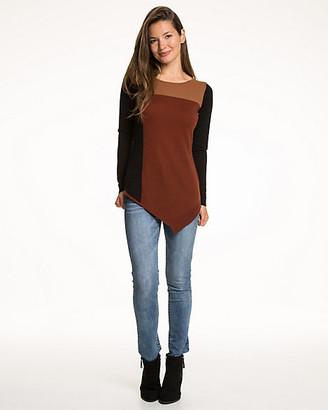 Le Château Colour Blocked Asymmetrical Sweater
