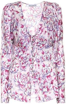 Paco Rabanne Floral satin blouse