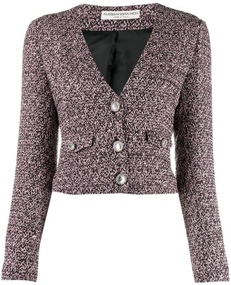 Alessandra Rich Cropped Fitted Jacket