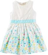 Osh Kosh 2-Piece Floral Border Print Dress