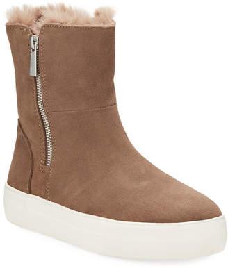 J/Slides Alisa High-Top Faux-Fur Bootie Sneakers
