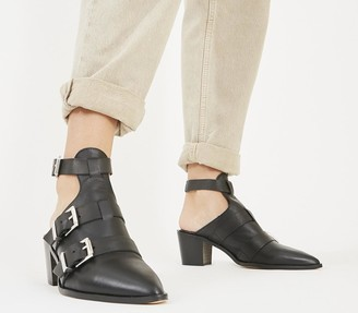 Office Moscow Buckle Shoeboots Black Leather