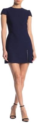 Alice + Olivia Maya Exposed Zip Mini Dress