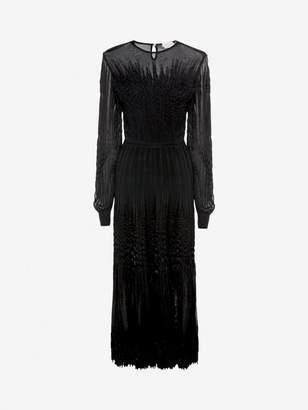 Alexander McQueen Sheer knit Midi Dress