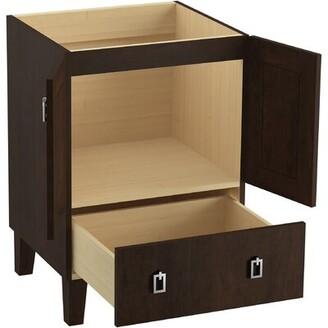 "Kohler Poplin Tones 24"" Vanity Base Only with Furniture Legs, 2 Doors and 1 Drawer Base Finish: Claret Suede"