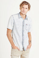 True Religion Short Sleeve Button Up Woven Mens Shirt